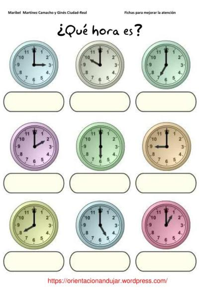 Fichas atenci n qu hora es orientacion andujar for Cuanto es un cuarto de hora