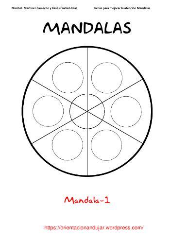 Fichas atención; Mandalas -Orientacion Andujar