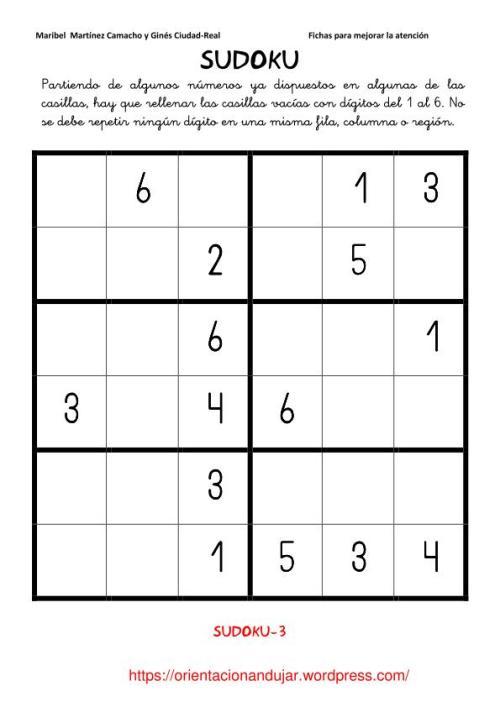 sudoku-numerico-6x6
