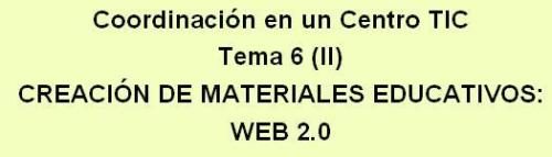 crear materiales para  web 2.0