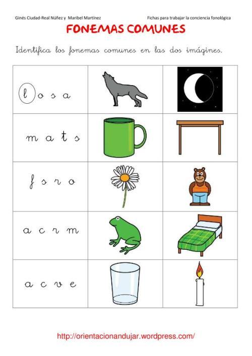 fonemas comúnes