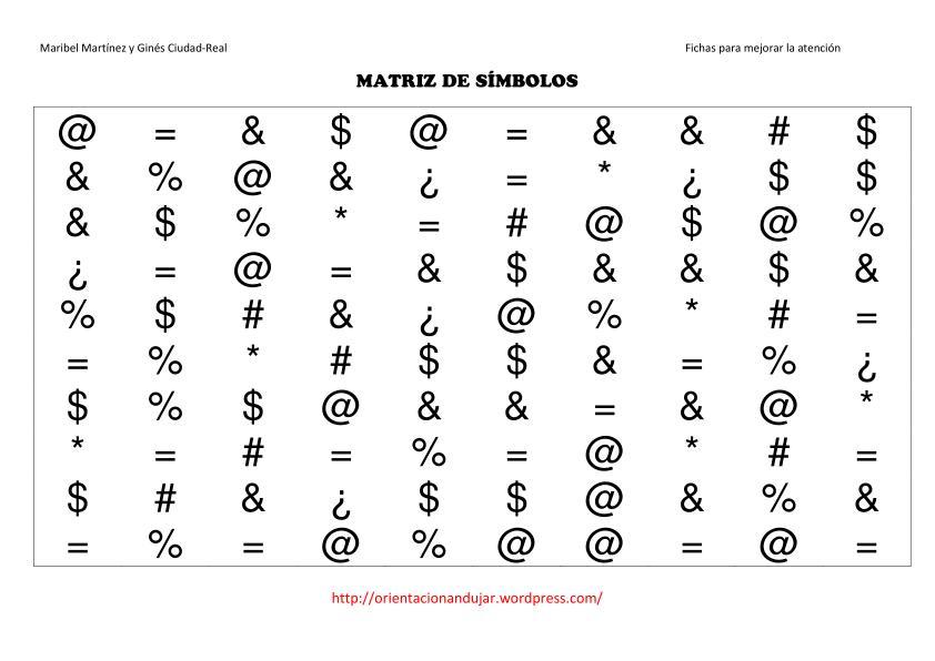 de contabilizar la cantidad que hay de cada uno de los simbolos