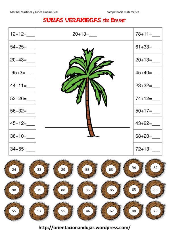 Prueba De Matematicas Tercero Basico Multiplicaciones Y Divisiones