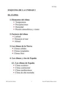TEMA 1 EL CLIMA