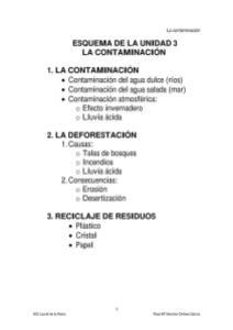 TEMA 3 LA CONTAMINACIÓN