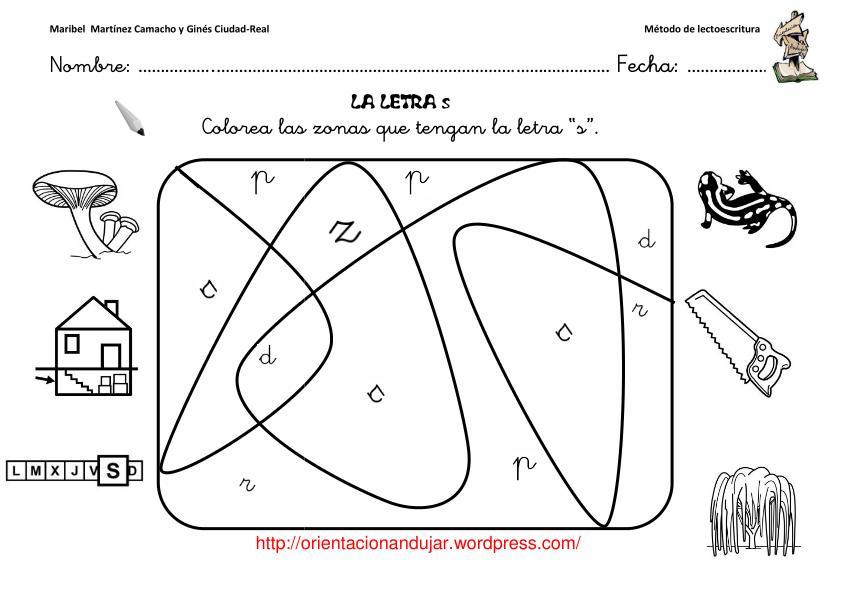 descargate las fichas del metodo de orientacionandujar letra s