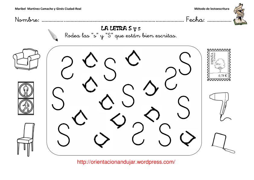 Método de lectoescritura- OrientacionAndujar letra s -Orientacion ...