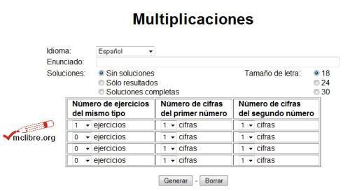 Multiplicaciones de dos cifras por una cifra -Orientacion Andujar
