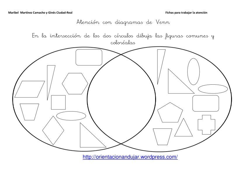 Diagramas de venn fichas de atencin orientacion andujar ccuart Images
