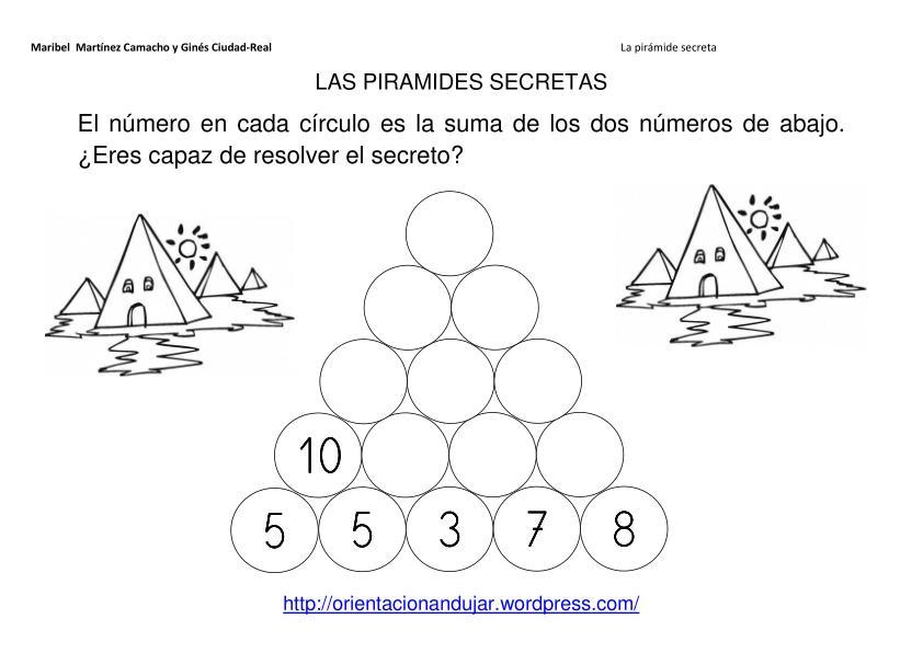 Pirámides secretas multiplicaciones -Orientacion Andujar