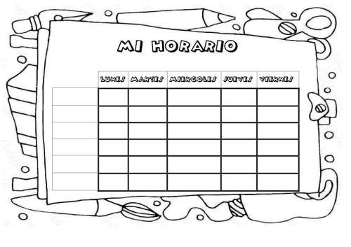Nuestras Plantillas para realizar vuestros propios horarios ...
