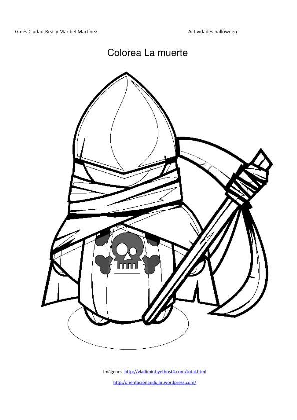 la santa muerte coloring pages - photo #9