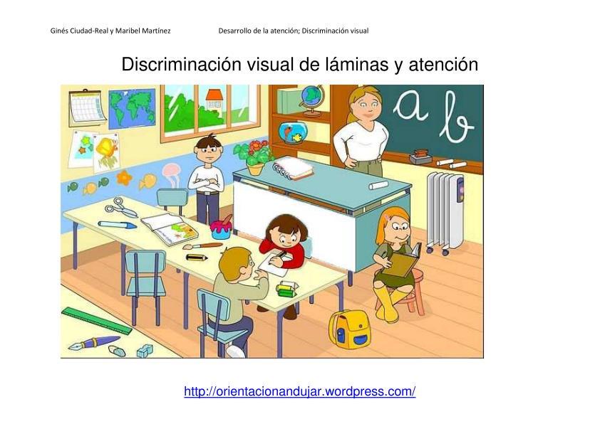 Discriminaci n visual y atenci n l minas y actividades for Memoria descriptiva de un colegio