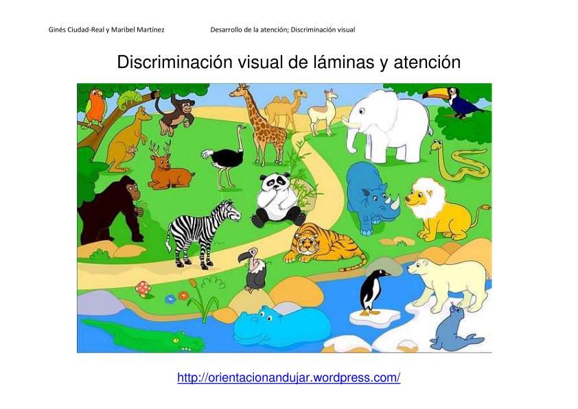 Discriminación visual y atención; Láminas y actividades ...