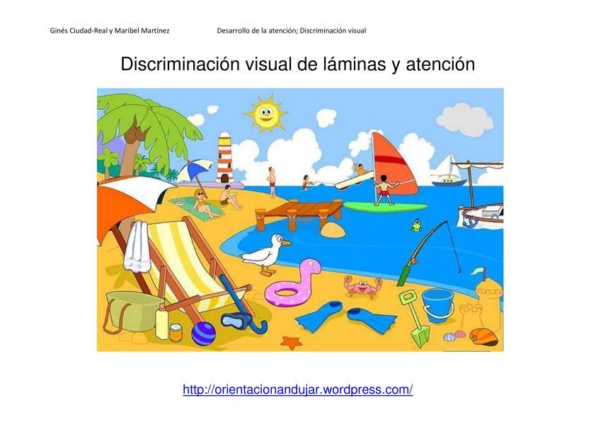 Discriminación visual y atención; Láminas y actividades interactivas ...