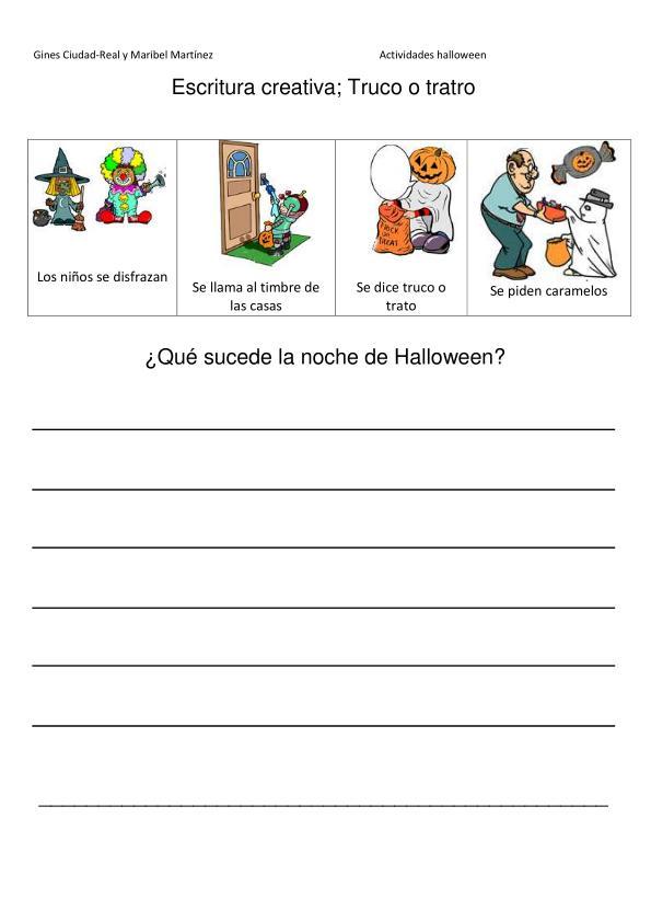 Orientación Andújar: Escritura creativa; Temática Halloween