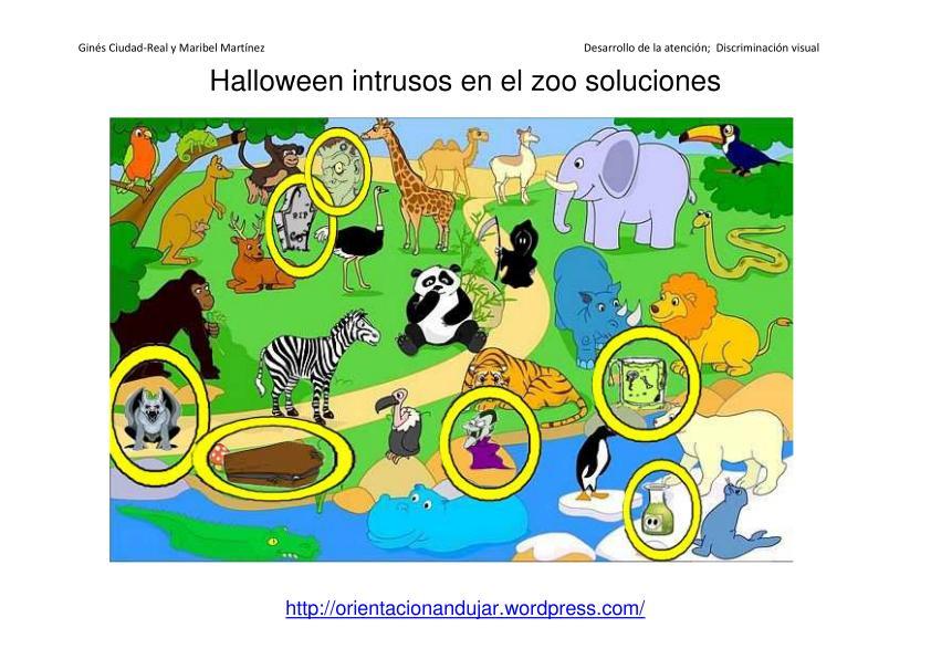 Intrusos en láminas; Halloween
