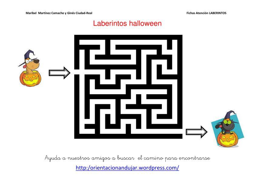 Laberintos con motivos de Halloween Y Materiales de otros blogs ...