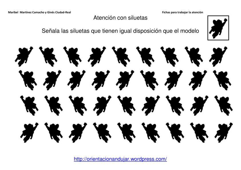 materiales de atenci u00f3n con siluetas de dibujos animados