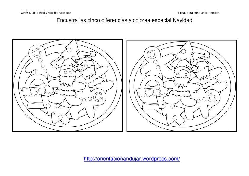 Fichas Atencin Especial Navidad Encuentra las diferencias II