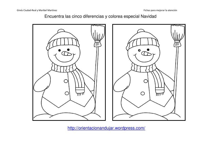 Atopa as diferenzas e colorea. Especial Navidad