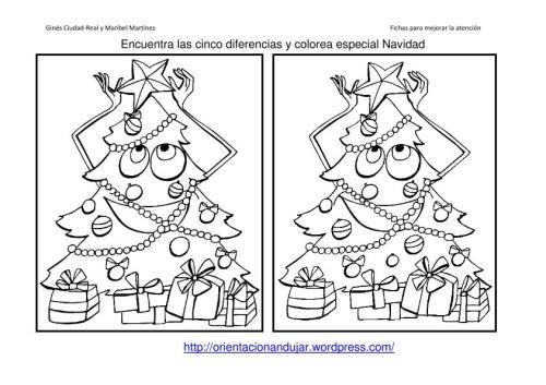 Fichas Atención especial Navidad. Encuentra las diferencias ...
