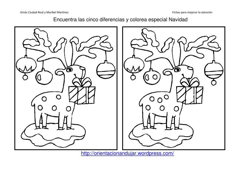 40 Fichas Atencion Especial Navidad Encuentra Las Diferencias Y