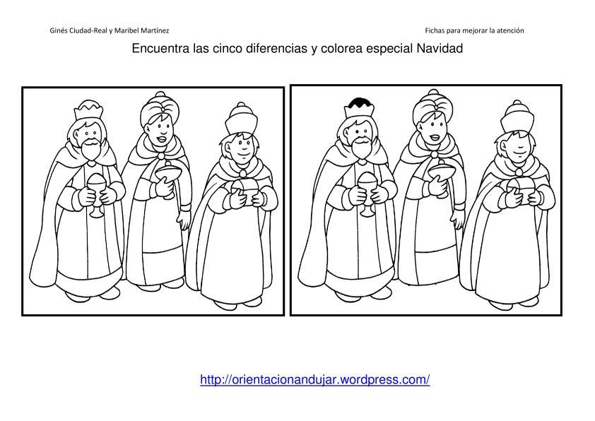 Fichas Atenci�n especial Navidad. Encuentra las diferencias ...