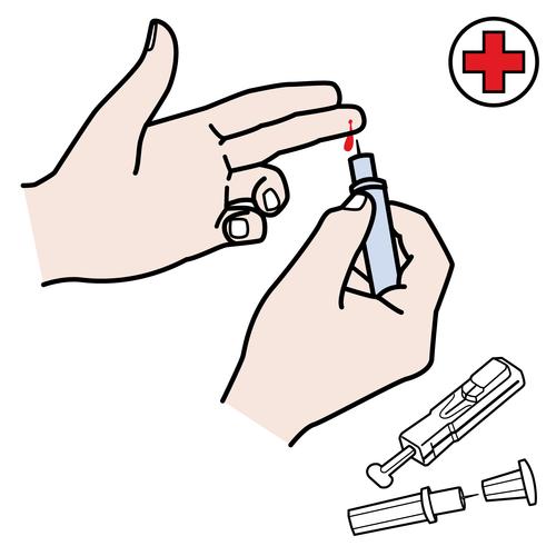 Tablero de comunicación de rutina diabetes -Orientacion