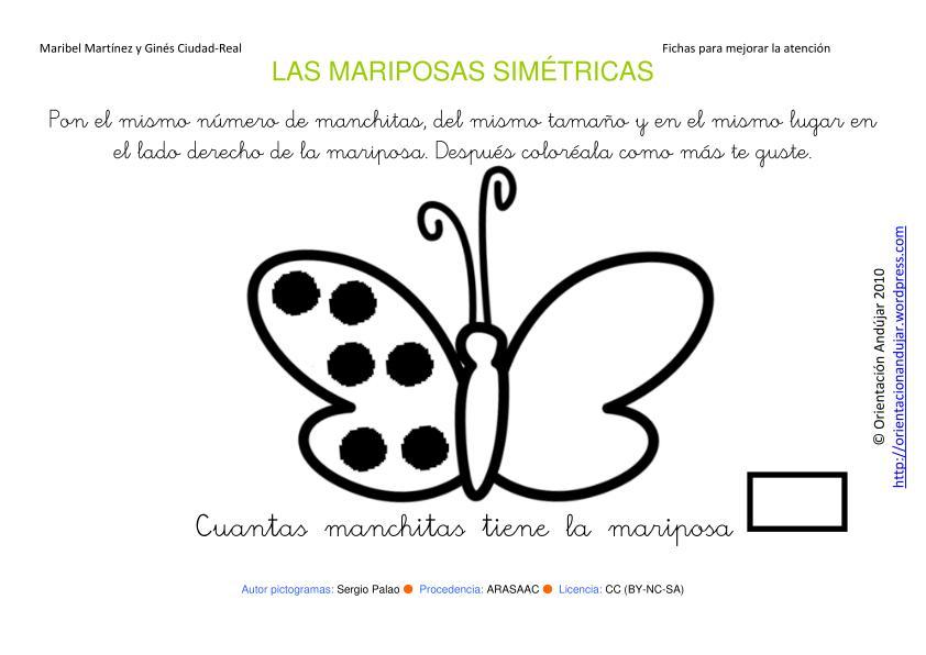 Atencion insectos simétricos - Orientación Andújar - Recursos Educativos