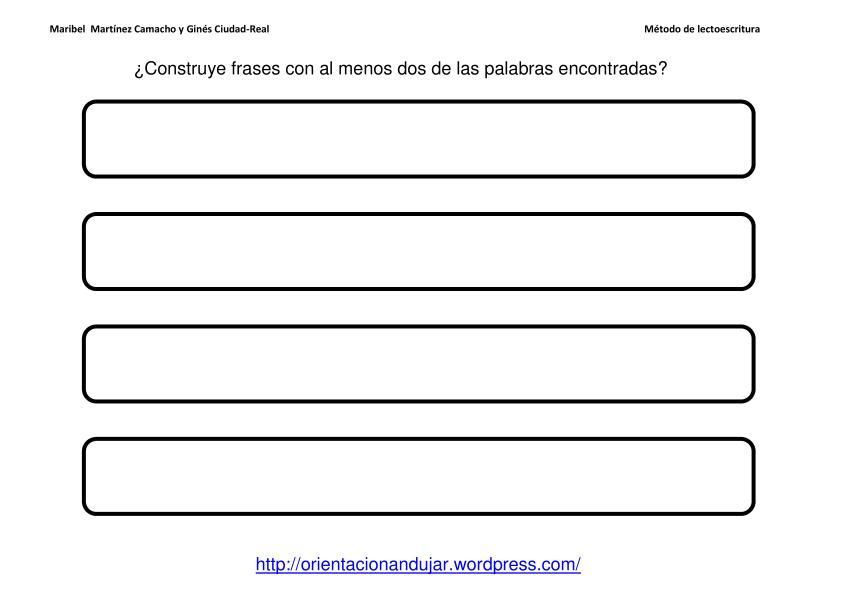 Conciencia fonológica y Competencias Básicas; El muro de las letras ...