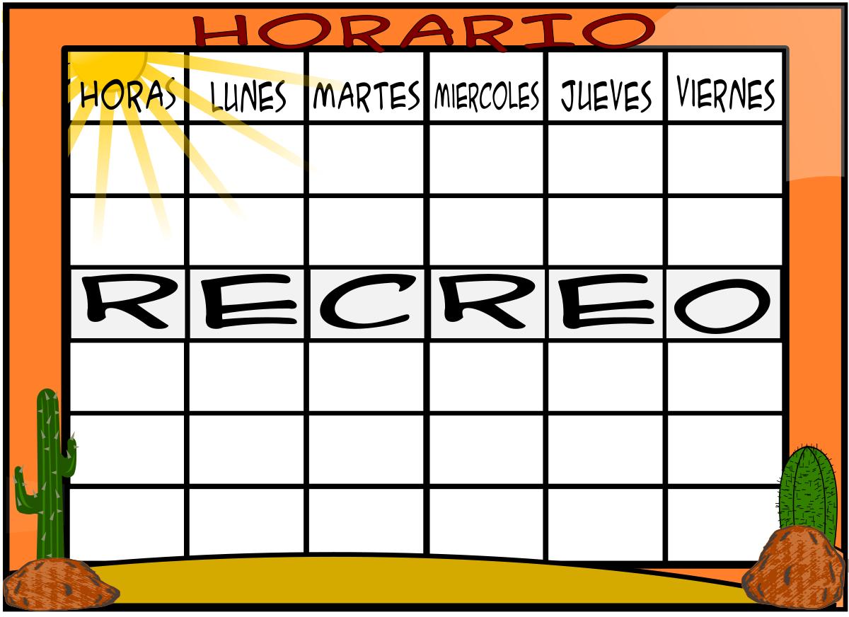Las clases de 5º del Octavio: Plantillas para horarios