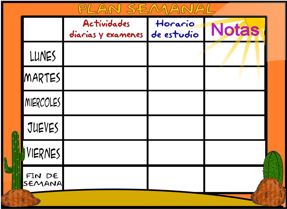 Planificadores Semanales El Blog De Olimpia