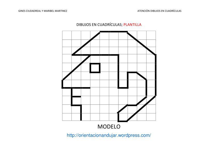 Fichas De Atenci  N  Dibujamos En Cuadr  Culas Siguiendo Modelos