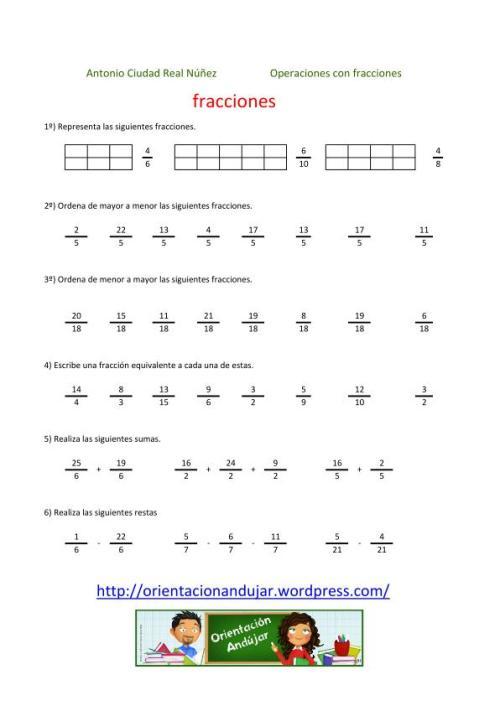 Colección de 200 fichas para trabajar las fracciones - Orientacion ...