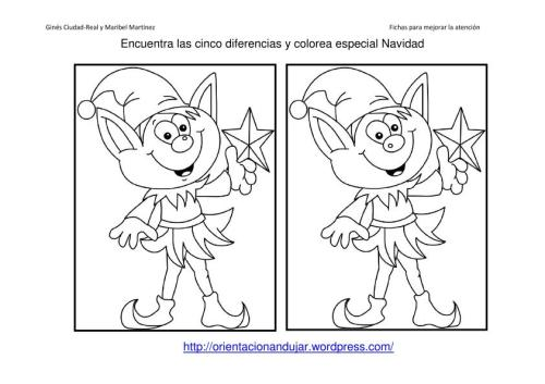 Fichas De Dibujos De Navidad.40 Fichas Atencion Especial Navidad Encuentra Las
