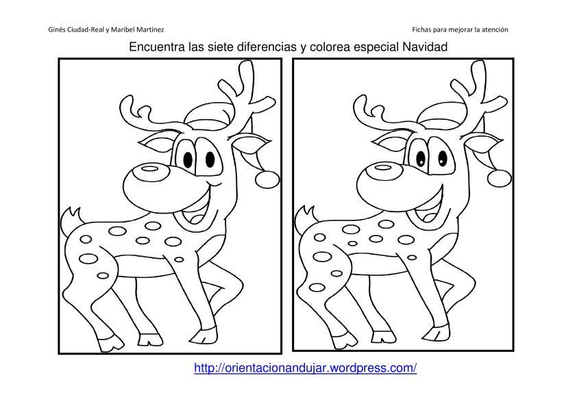 Coleccion Encuentra Las Diferencias Y Colorea Especial Navidad