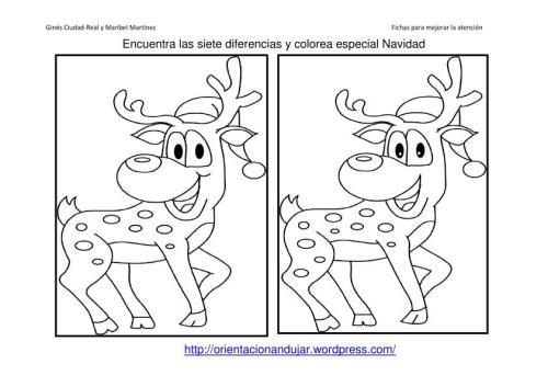 40 Fichas Atención; especial NAVIDAD. Encuentra las diferencias y ...