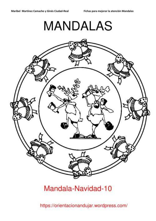 10 Mandalas Navideñas. Para colorear y trabajar la atención ...