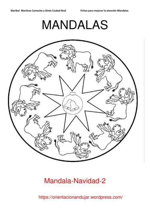 10 Mandalas Navideñas Para Colorear Y Trabajar La Atención