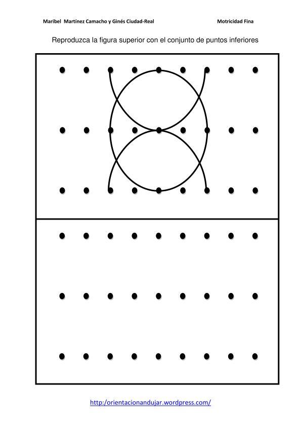 Motricidad fina con puntos. Trazos curvos nivel inicial y simétrico ...
